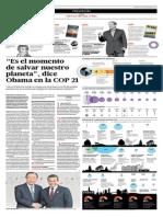 Es El Momento de Salvar Nuestreo Planeta Dice Obama en La COP21