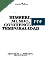 Walton-Husserl Mundo Conciencia Temporalidad 1993 OCR.