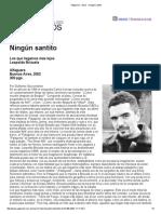 """Página 12 Libros """"Ningún Santito"""""""