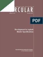 Evolucion de Especificaciones SHRP