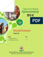 OTBA Social Science Theme Class 9