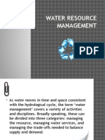 Water Resource Management Report