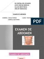 Examen de Abdomen
