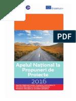 Apel Naional La Propuneri de Proiecte