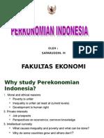 Kuliah I Gambaran Umum Perekonomian Indonesia