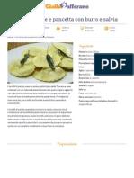 GZRic Tortelli Di Patate e Pancetta Con Burro e Salvia