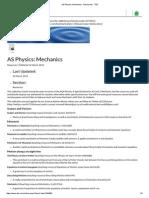 As Physics_ Mechanics - Resources - TES