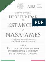 Convocatoria Estancias en NASA-AMES 2016