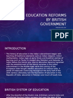 Education Reforms by British Government