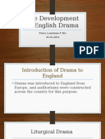 The Development of English Drama