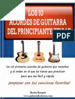 Los Diez Acordes de Guitarra Del Principiante Eficaz