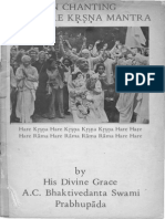 on chanting the hare krsna mantra-original booklet