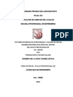 FACTORES DE RIESGO DE OSTEOPOROSIS Y CALIDAD DE VIDA EN MUJERES MAYORES DE 60 AÑOS