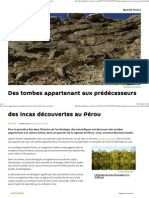 Des Tombes Appartenant Aux Prédécesseurs Des Incas Découvertes Au Pérou
