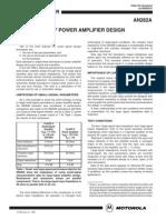 AN282A - Amplificadores RF - Motorola