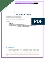 Muestreo de Campo Informe 1