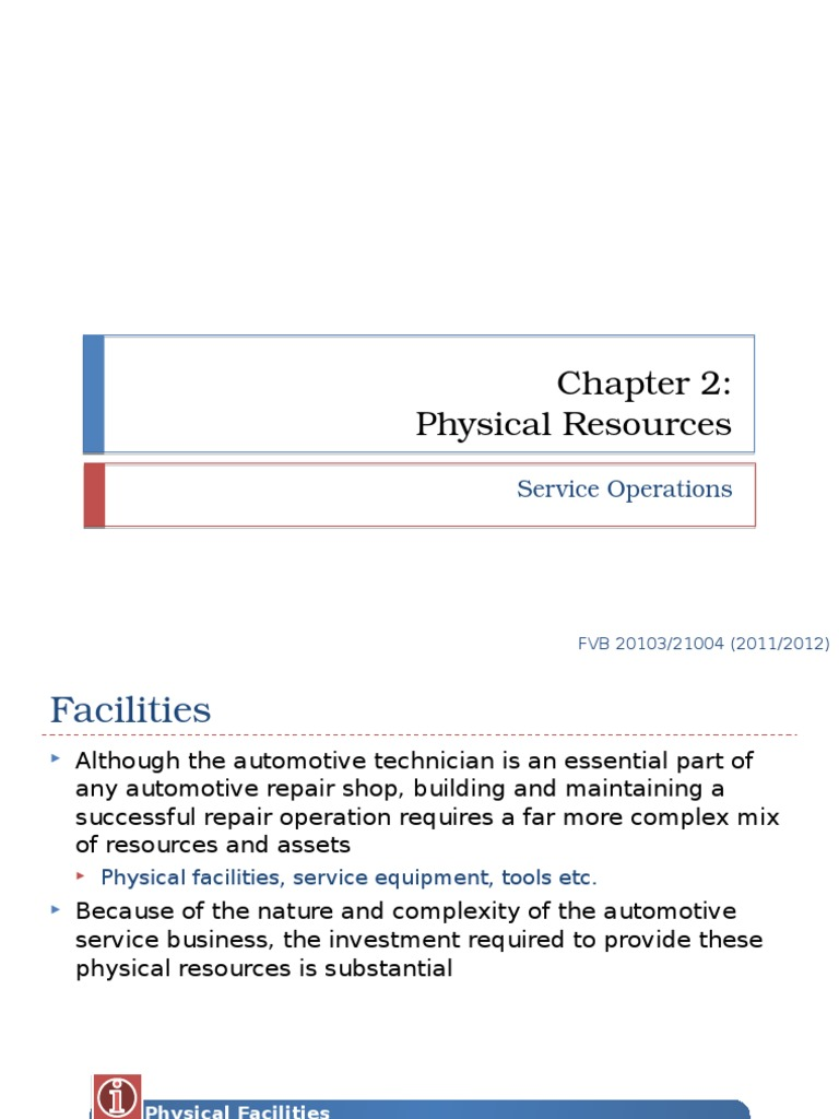 what are physical resources within a business