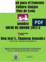 Socio de Honor SOFCAPLE 2015