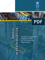 Estudio de Perfiles Ocupacionales Sector Metalmecánica en La Ciudad de Manizales