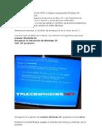 instalar nuevamente Windows XP