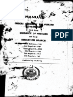 Manual of Order Irrigation Punjab