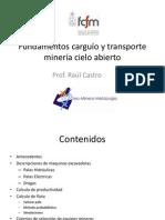 5. Sistemas de carguío transporte Mineria Cielo Abierto