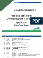Communicators Conference Planning