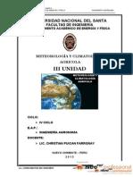 Meteorologia y Climatologa Agricola III Unidad