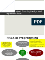 HRBA in Project Designing and Implementation Stages