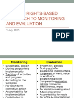 HRBA to Monitoring and Evaluation