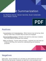 marzano presentation - notes and summarization