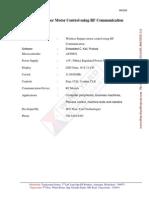 Wireless Stepper Motor Control Using RF Communication