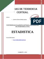 MEDIAS DE TENDENCIA CENTRAL MONOGRAFIA