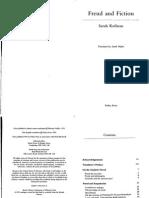 Sarah Kofman Freud and Fiction 1991