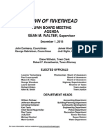 Riverhead Town Board Agenda, Dec. 1, 2015