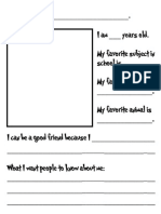 Microsoft Word - All About Me Book Page