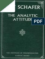 The analytic attitude Roy Schaffer
