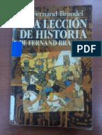 Una Leccion de Historia- Fernand Braudel
