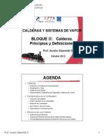 BLOQUE II - Calderas - Principios Definiciones Combustion Eficiencia