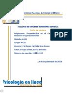 Ficha de Lectura Psicología Organizacional