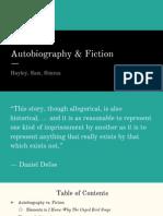 autobiography vs fiction