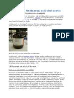 Utilizarea Acidului Acetic