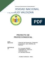 Perfil de Proyecto Unheval Proyeccion Social