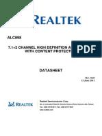 ALC898 DataSheet 0.60