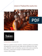 Buddhist Extremism in Thailand Fits Neatly Into Junta's Plans