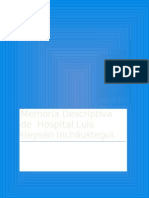 Memoria Descriptiva Hospital Luis Heysen.