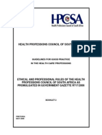 hpcsa  booklet 2 generic ethical rules with anexures