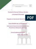 Intervención Socio-Comunitaria Asistencial y Preventiva en Situaciones de Riesgo12-13