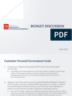 Department of Intellectual and Developmental Disabilities budget proposal
