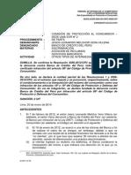Resolución Indecopi - Reclamo Previo Cliente Financiero